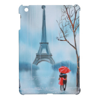 Couple at the Eiffel Tower Paris painting Case For The iPad Mini