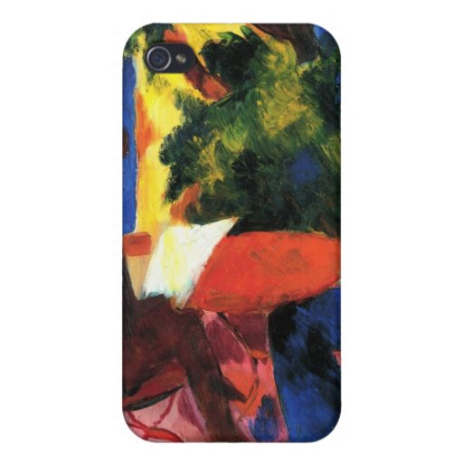 Couple at the garden table by August Macke Case For iPhone 4