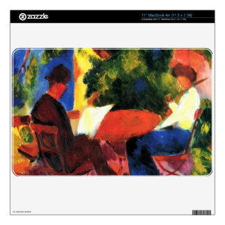 Couple at the garden table by August Macke MacBook Air Decals