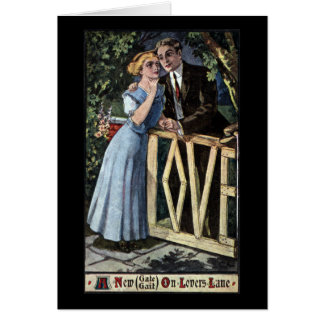 Couple at the Love Gate Card