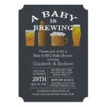 """Couple Baby Brewing Barbecue Baby Shower 5"""" X 7"""" Invitation Card"""
