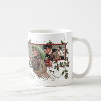 Couple Braves Snow To Bring Gifts Coffee Mug