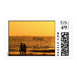 Couple by the Beach Stamps