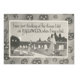 Couple Cemetery Graveyard Ghost Prank Card