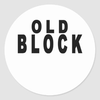 Couple Chip off the old block T Shirt.png Classic Round Sticker