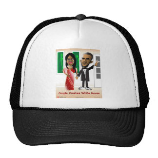 Couple Crash White House Mesh Hats