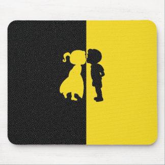 Couple Cute Kiss Love Photo Graphic Design Mouse Pad