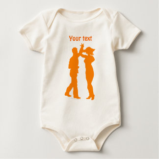 Couple Dance Spin Dancing Silhouette Baby Bodysuit