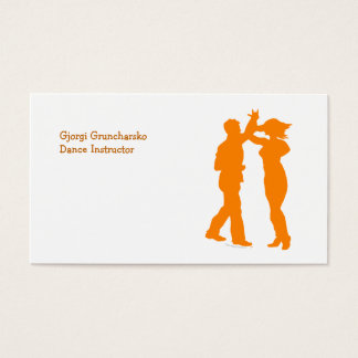 Couple Dance Spin Dancing Silhouette Business Card