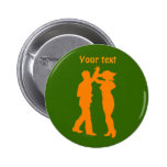 Couple Dance Spin Dancing Silhouette Pinback Button