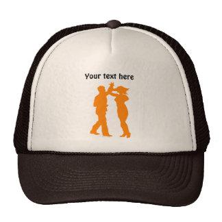 Couple Dance Spin Dancing Silhouette Trucker Hat