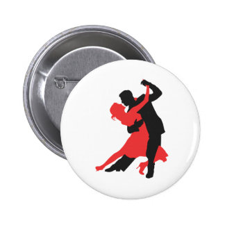 couple dancing 2 inch round button