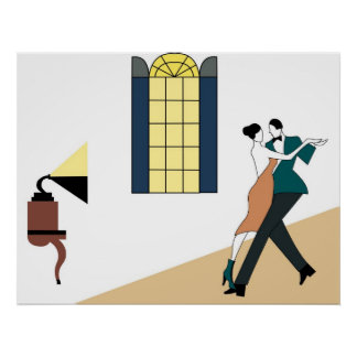 couple dancing poster
