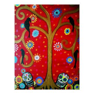 COUPLE DAY OF THE DEAD POSTERS