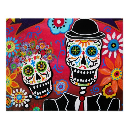 COUPLE DAY OF THE DEAD POSTER