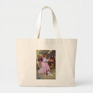 Couple Dining Al Fresco Tote Bags