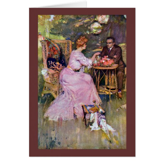 Couple Dining Al Fresco Card