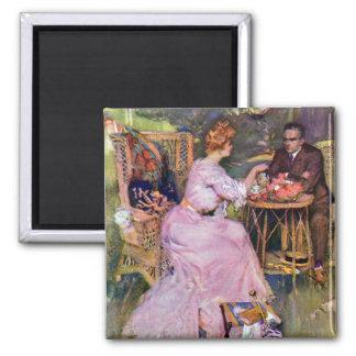 Couple Dining Al Fresco Magnet