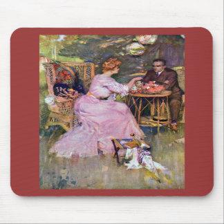 Couple Dining Al Fresco Mousepad