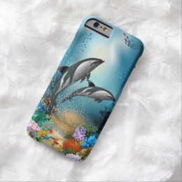 Couple Dolphins Playing In Ocean Barely There iPhone 6 Case