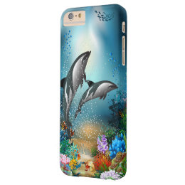 Couple Dolphins Playing In Ocean Barely There iPhone 6 Plus Case