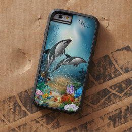 Couple Dolphins Playing In Ocean Tough Xtreme iPhone 6 Case