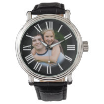 Couple Engagement Portrait Your Photo in Center Wrist Watch
