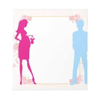 couple expecting baby note pad