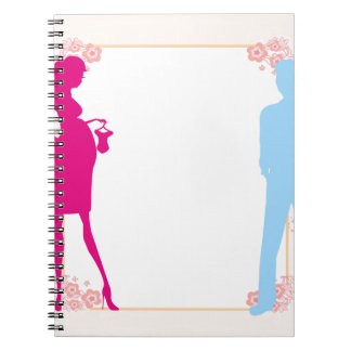 couple expecting baby spiral notebooks