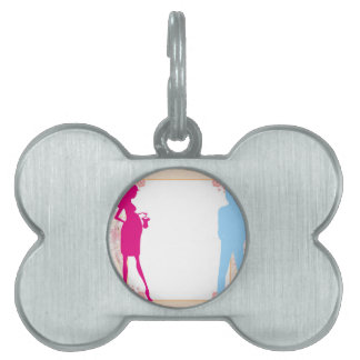 couple expecting baby pet name tag