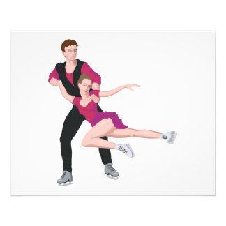 couple figure skating illustration flyer design