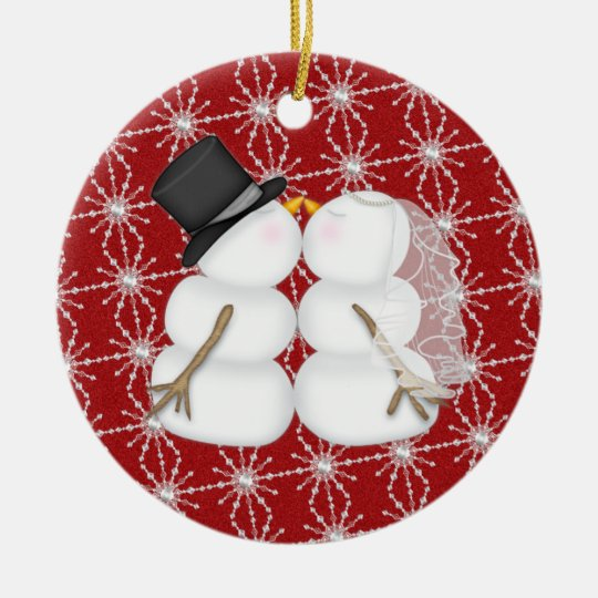 Couple First Christmas Ceramic Ornament