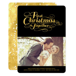 Couple First Christmas Together Holiday Photo Card