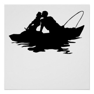 Couple Fishing Poster