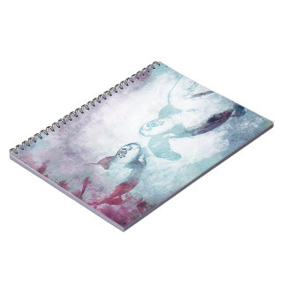 Couple Flying Green Sea Turtles   Notebook