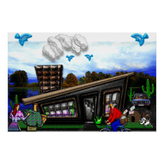 Couple Going Home Rover Jumping Print