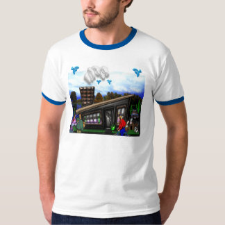 Couple Going Home Rover Jumping Print T-Shirt