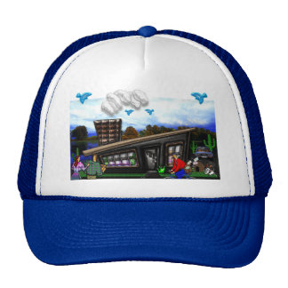 Couple Going Home Rover Jumping Print Trucker Hat