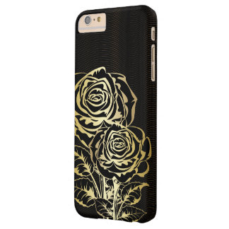 Couple Golden Black  Roses Barely There iPhone 6 Plus Case