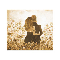 Couple Holding Love Canvas Print