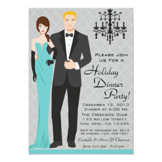 Couple Holiday Dinner Party Invitation