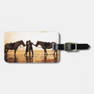 Couple Horses Luggage Tag