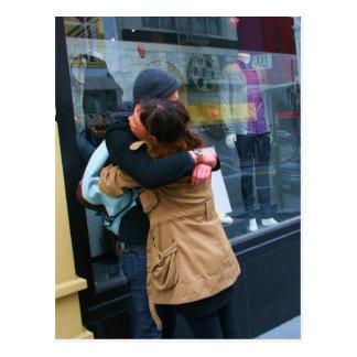 Couple Hugging photo Postcard