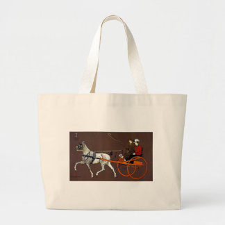 Couple in a Breaking Cart Tote Bags