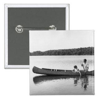 Couple in a Canoe Button