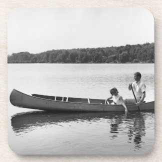 Couple in a Canoe Drink Coasters