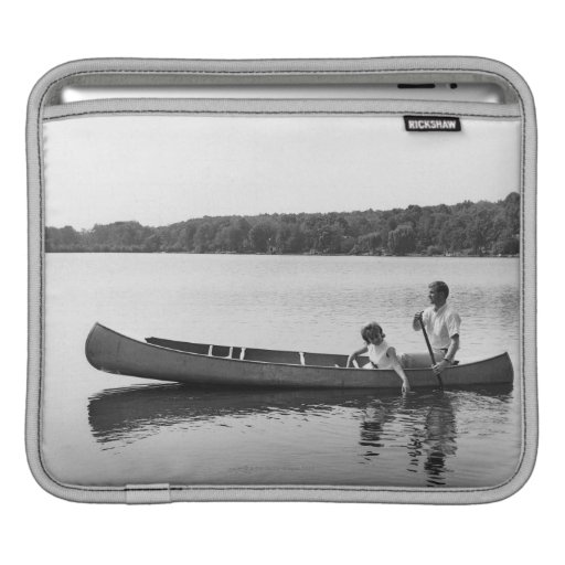 Couple in a Canoe Sleeves For iPads