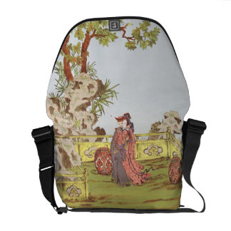 Couple in a Chinese garden, from 'Ornaments of Chi Courier Bag