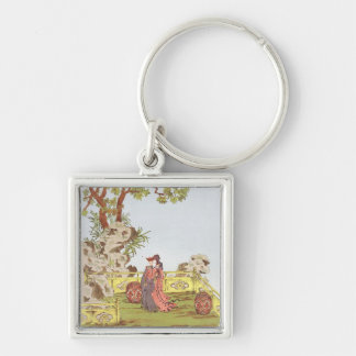 Couple in a Chinese garden, from 'Ornaments of Chi Keychain