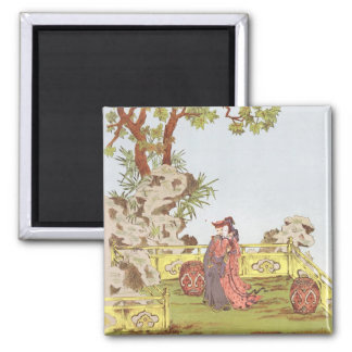 Couple in a Chinese garden, from 'Ornaments of Chi Refrigerator Magnet